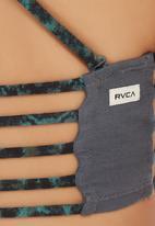 RVCA - Jangling bralette in dark slate Multi-colour