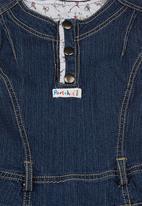 Portchie Gear - Sleeveless denim dress Dark blue black denim