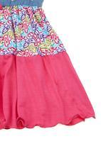 Precioux - Short-sleeve dress with tie detail Multi-colour