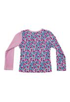 Precioux - Long-sleeve top with floral-print Purple