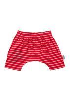 Eco Punk - Harem pants with poem-print Red