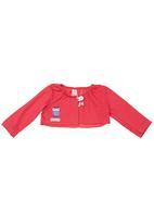 Eco Punk - Cardi with owl motive Mid pink
