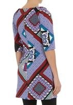 Closet - Scarf print tunic Multi-colour