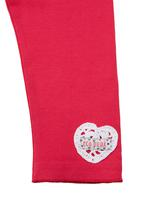 Eco Punk - Leggings with heart-print Mid pink