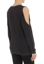 All About Eve - Midnight crew-neck sweater Black