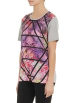 All About Eve - Print blocked T-shirt Multi-colour