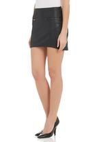 All About Eve - Pleather mini skirt Black
