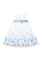 Phoebe & Floyd - Garden rose party dress Blue/White