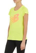 New Balance  - Accelerate Short-sleeve Graphic Top Yellow