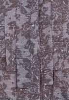 KARMA - Lace-print waterfall blouse Grey/White