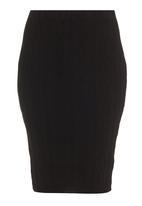 London Hub - Cable knit pencil skirt Black