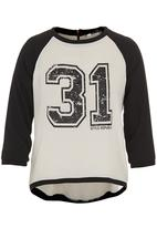 STYLE REPUBLIC - Number tee Black/White