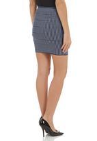 Traffic - Svetlana skirt mid Blue