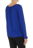 edit - Chain-detail blouse Cobalt