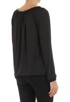 edit - Chain-detail blouse Black