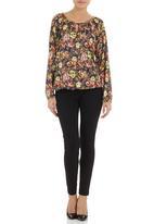 edit - Chain-detail blouse Multi-colour