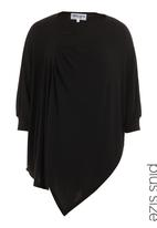 Megalo - Poncho top with sleeves Black