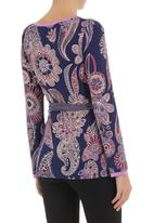 Maya Prass - Printed wrap blouse Multi-colour