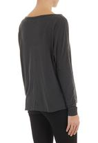 RVCA - Man o War Long-sleeve T-shirt Black
