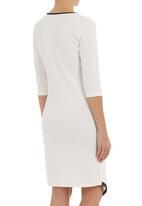 edit - Asymmetrical dress Black/White