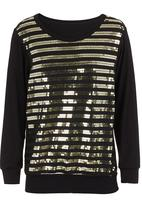 Coppelia - Sequined long-sleeve shirt Gold