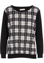 Coppelia - Check long-sleeve shirt Black/White