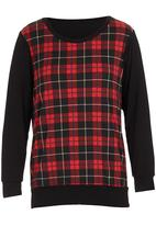 Coppelia - Check long-sleeve shirt Red