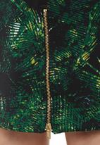 Fortune - Jungle pencil skirt green