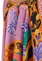 Glamorous - Vintage baroque scarf-print waterfall top Brown