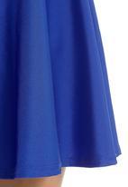 Glamorous - Disco skater skirt Blue