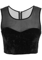 Glamorous - Woven top Black