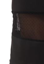 STYLE REPUBLIC - Pencil skirt with mesh inset Black