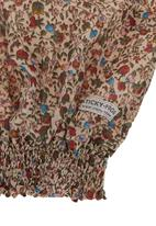 Sticky Fudge - Long-sleeved top with floral garden print Brown