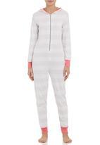 c(inch) - Striped onesie White