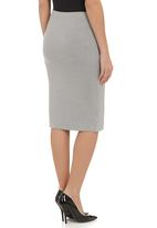 c(inch) - Double layer tube skirt mid Grey