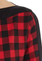 adam&eve; - Print-blocked long-sleeve top  Multi-colour