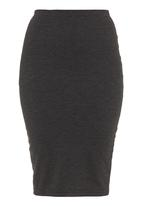 adam&eve; - Striped pencil skirt dark Grey