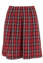 adam&eve; - Tartan skirt Red