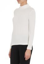 edit - Frill turtleneck blouse Milk
