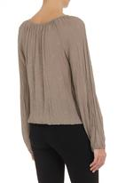 edit - Peasant top Stone/Beige