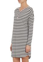 edge - Long-sleeve nightie with loop button binding Grey (dark grey)