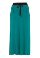 edge - Contrast maxi skirt dark Green