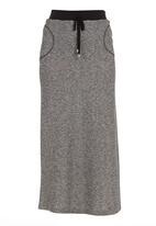 edge - Contrast maxi skirt dark Grey