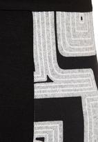 Revenge - Geometric-printed cowl-neck tunic Multi-colour