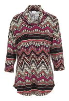 edit - Kimono cowl-neck blouse Multi-colour