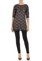 Label of Love - Long-sleeve lace top Multi-colour
