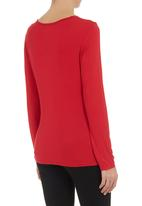 edit - Cowl-neck top Red