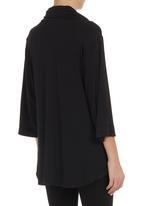 edit - Kimono cowl-neck blouse Black