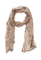 Sticky Fudge - Floral printed scarf  Brown