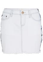 SASS - Beach babe denim mini skirt Blue
